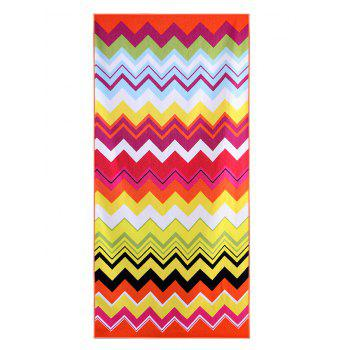 Striped Print Rectangle Soft Bath Towel - COLORFUL GEOMETRIC W15.5 INCH * L67 INCH