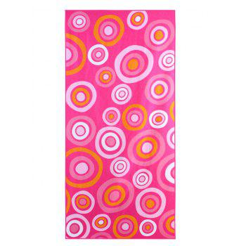 Circle Pattern Polyester Rectangle Bath Towel - PINK W15.5 INCH * L67 INCH