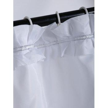 Concise Ruffle Polyester Unique Shower Curtain - W71 INCH * L71 INCH W71 INCH * L71 INCH