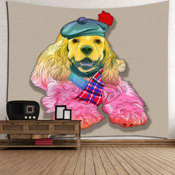 Wall Decor Dog in Hat Tapestry - COLORFUL W79 INCH * L71 INCH