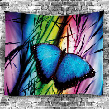 Butterfly Print Wall Hanging Tapestry - COLORFUL W79 INCH * L71 INCH