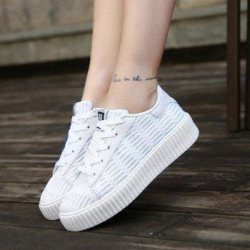 Lace Up Breathable Mesh Athletic Shoes - 38 38