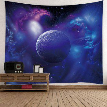 Outer Space Star Earth Wall Hanging Tapestry - BLUE BLUE