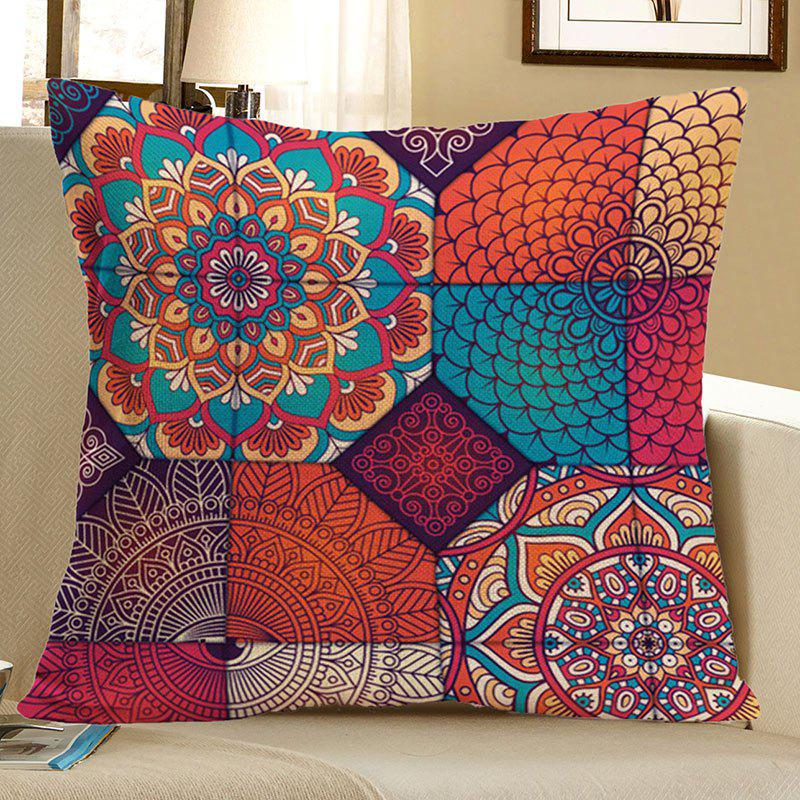 Bohemian Mandala Floral Printed Pillow Case - COLORFUL 45*45CM