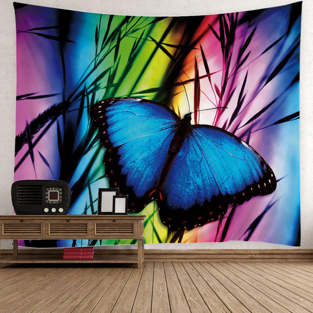 Butterfly Print Wall Hanging Tapestry - COLORFUL W79 INCH * L79 INCH