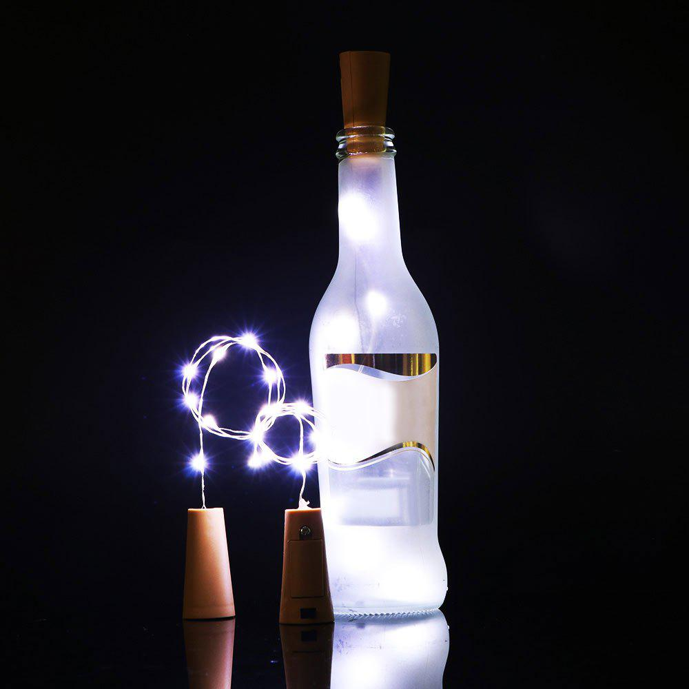 Cork Shaped Bottle Stopper 2PCS LED String Light - WHITE LIGHT