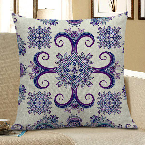 Home Decor Bohemian Geometric Floral Linen Pillow Case - COLORFUL 45*45CM