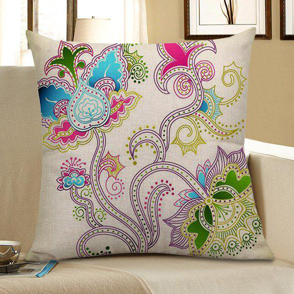 Home Decor Floral Printed Pillow Case handpainted birds and leaf branch printed pillow case