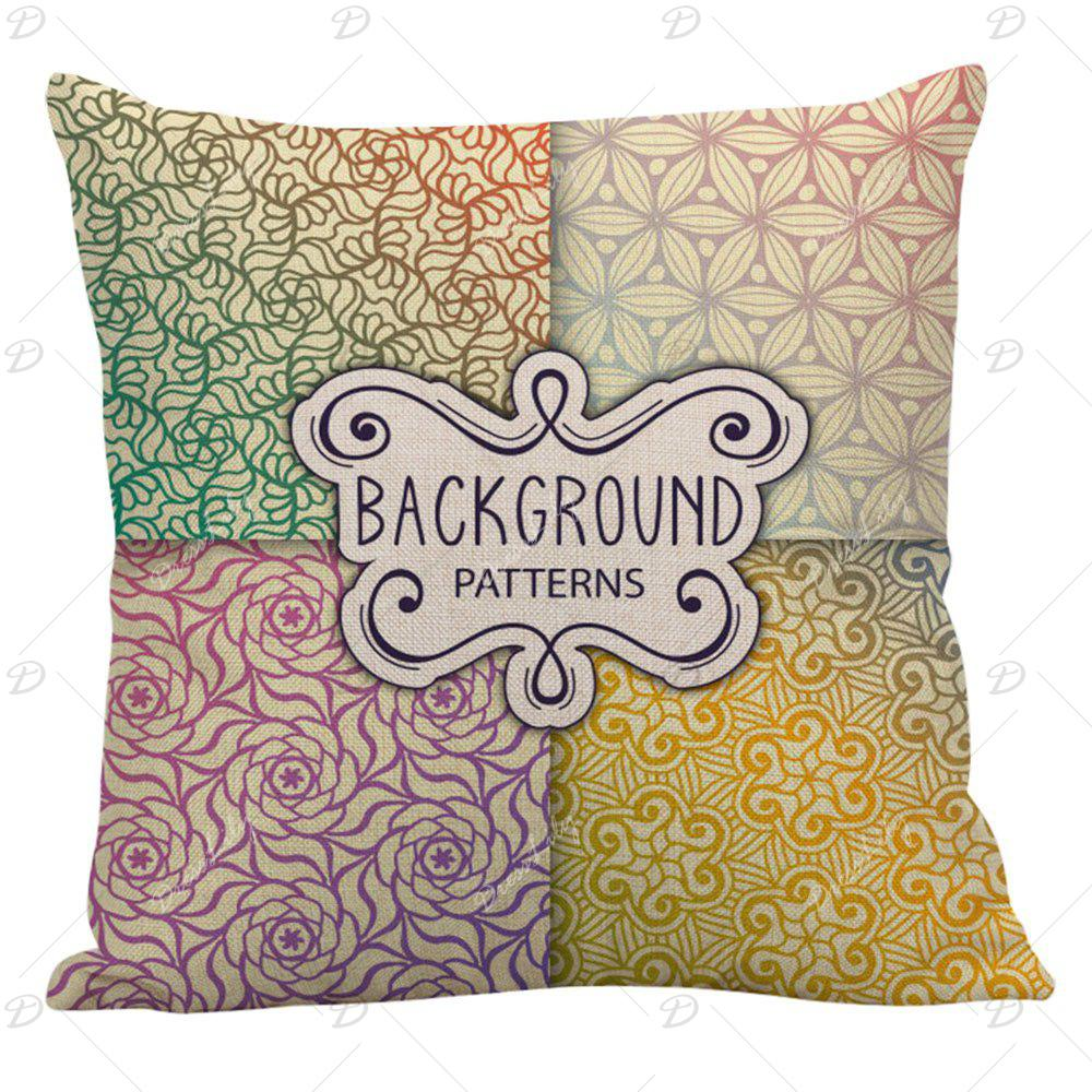 Bohemian Print Throw Pillows : 2018 Bohemian Floral Letter Print Pillow Case COLORFUL CM In Decorative Pillows & Shams Online ...