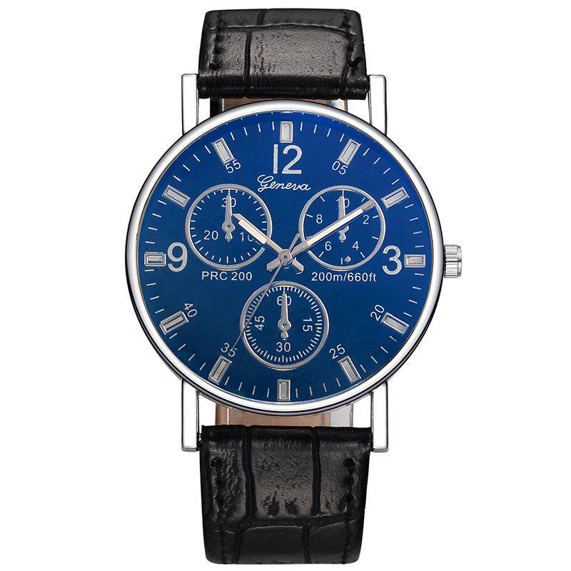 Multi Dial Design Quartz Watch - BLUE/BLACK