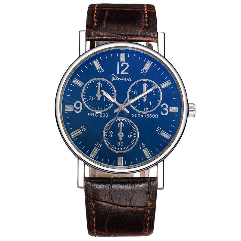 Multi Dial Design Quartz Watch - COFFEE