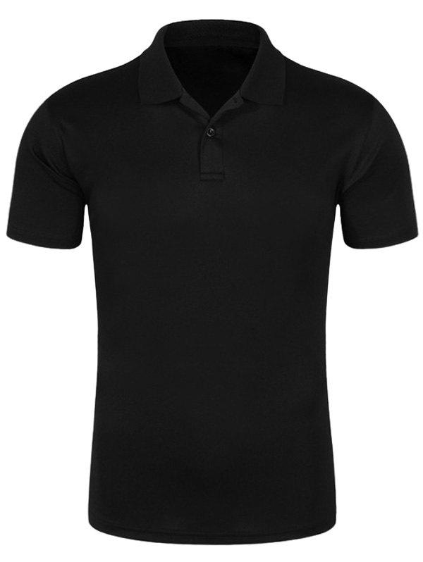 Quick Dry Half Button Plain Polo Shirt men plain polo shirt