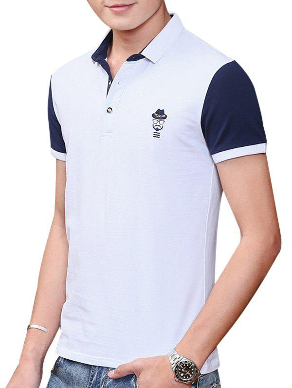 2018 embroidered two tone polo shirt white xl in t shirts for Wholesale polo shirts with embroidery