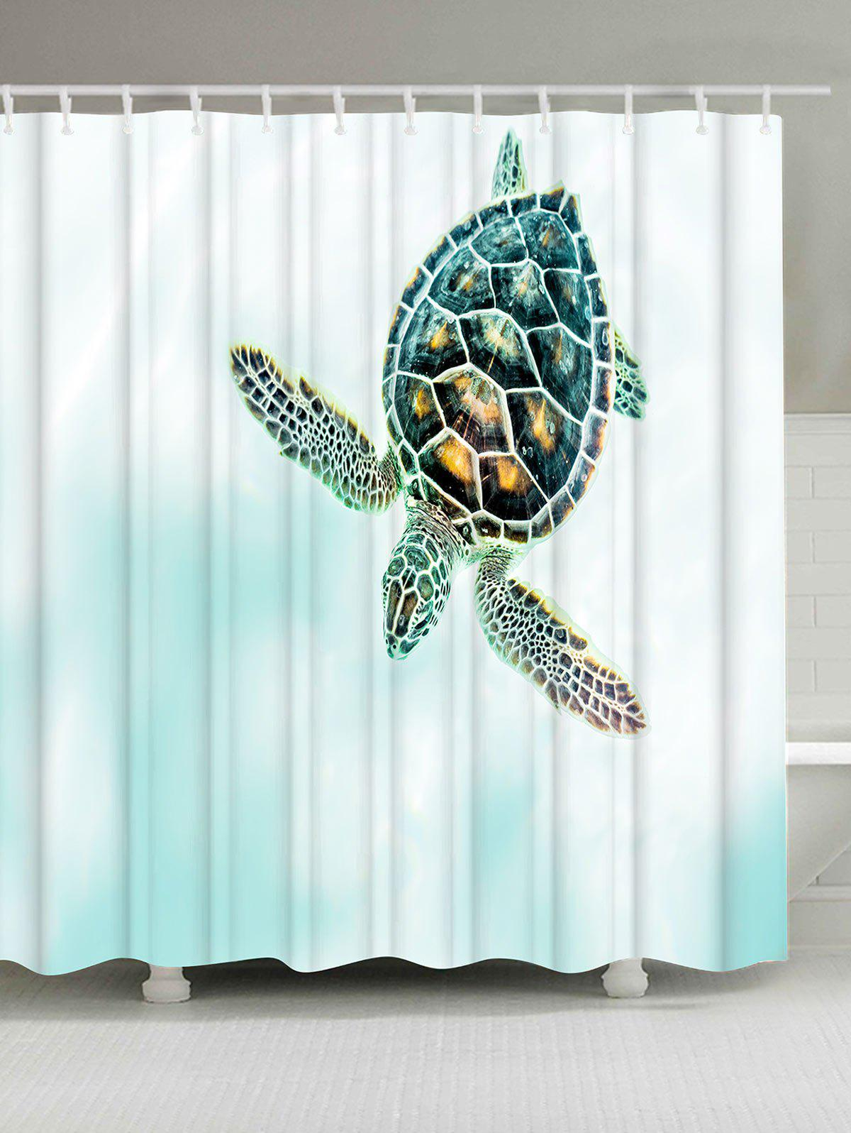 Thicker Tortoise Anti-bacteria Shower Curtain - COLORMIX W71 INCH * L79 INCH