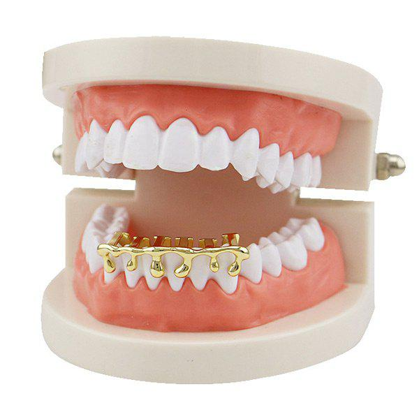 Lava Shape Hip Hop Bottom Teeth Grillz - Or