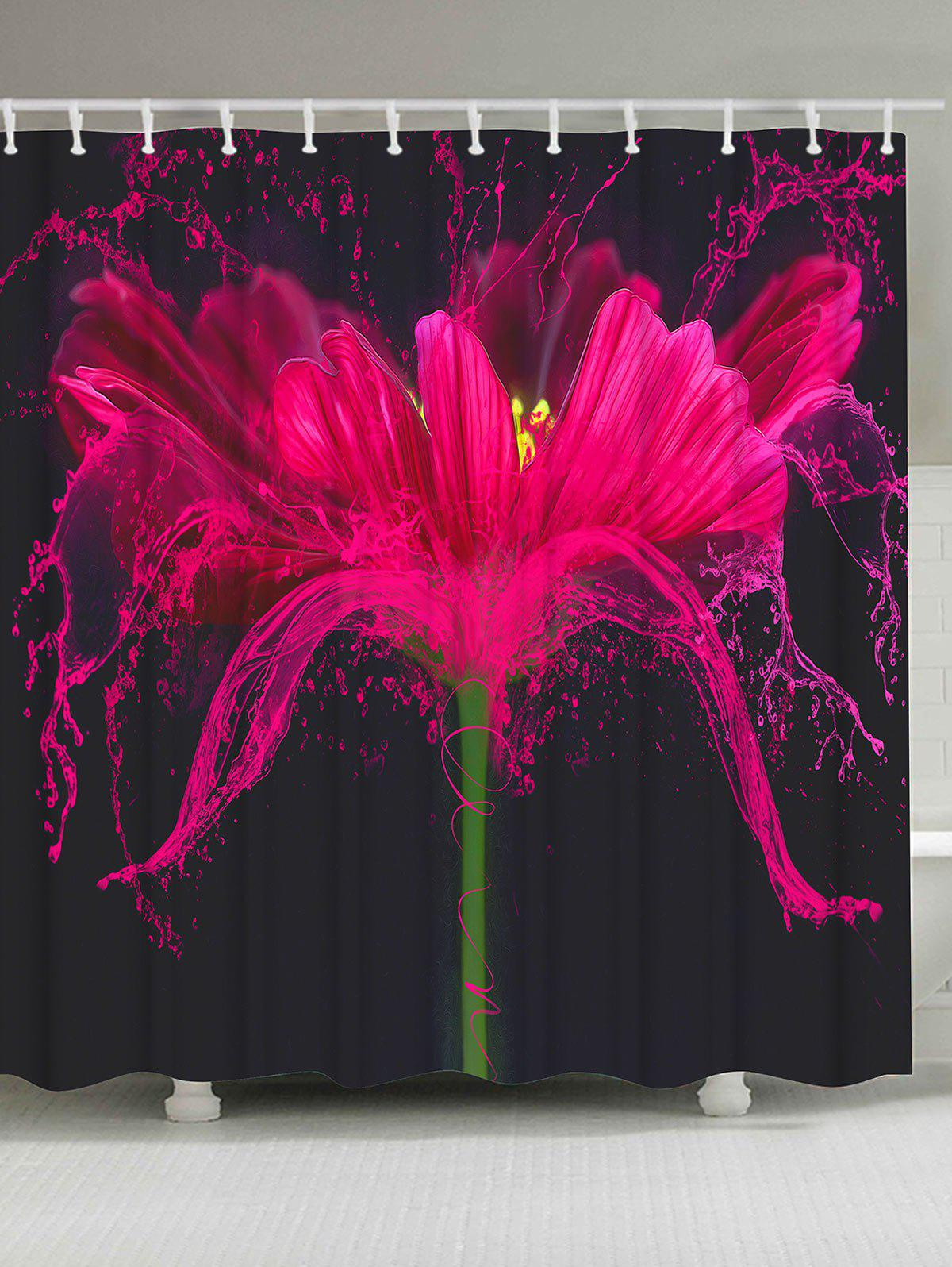 Mildew Resistant Flower Shower Curtain Bath Screen beach mildew resistant waterproof shower curtain