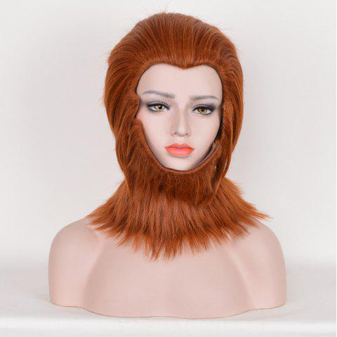 Fuzzy Short Layered Straight Sun Wukong Cosplay Synthetic Wig - JACINTH