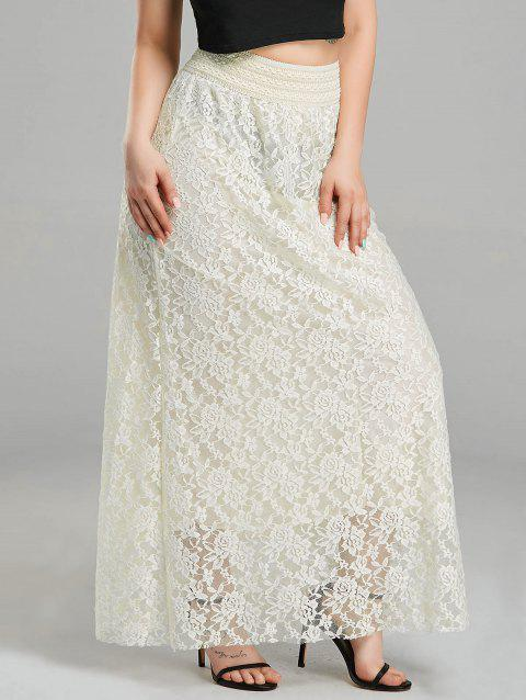 2968512ad0 2019 Lace High Waist Maxi Skirt In CREAMY WHITE M | DressLily.com