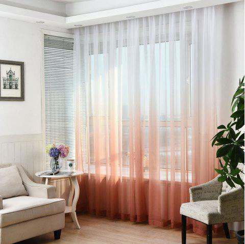 1PC Gradient Color Voile Window Curtain - WINE RED W59 INCH * L98.5 INCH