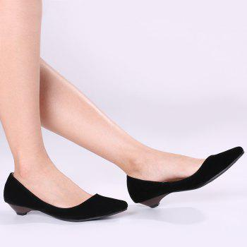 Basic Pointed Toe Low Heel Pumps