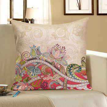 Floral Print Decorative Pillow Case