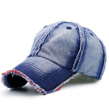 Artificial Sanding Brim Denim Baseball Hat