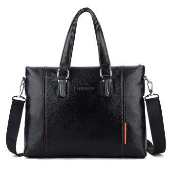 PU Leather Metal Embellished Tote Bag - BLACK BLACK
