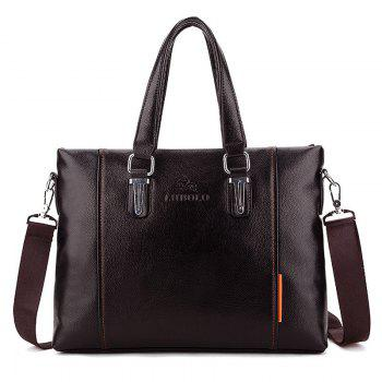 PU Leather Metal Embellished Tote Bag