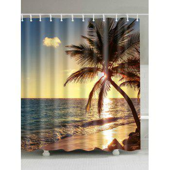 Bathroom Decor Sunset Beach Scenic Shower Curtain
