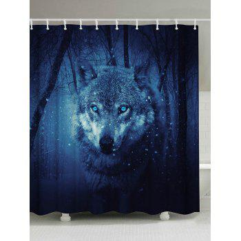 Snow Wolf Eco-Friendly Fabric Shower Curtain