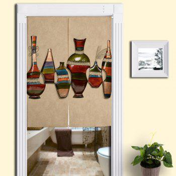 Bottles Print Decorative Tribal Door Curtain - PALOMINO W33.5 INCH * L47 INCH