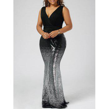 Plus Size Maxi Fishtail Dress