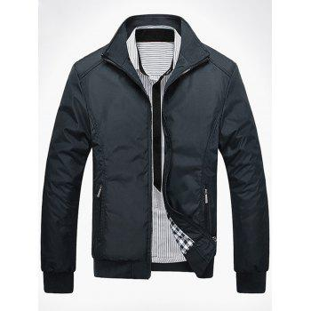 Casual Zipper Pocket Bomber Jacket