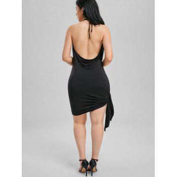Halter Backless Mini Club Dress - BLACK XL