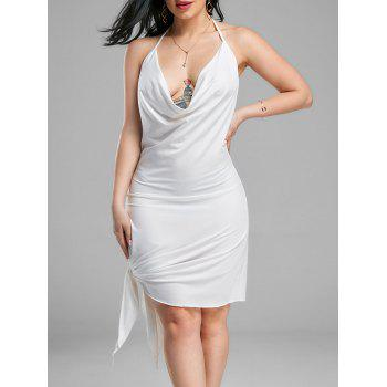 Halter Backless Mini Club Dress - WHITE S