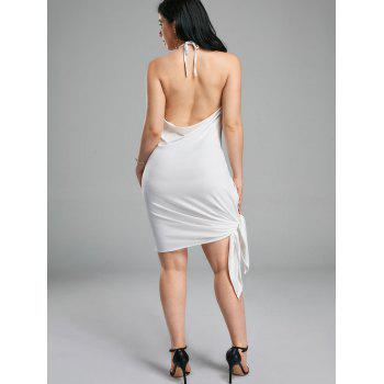 Halter Backless Mini Club Dress - S S