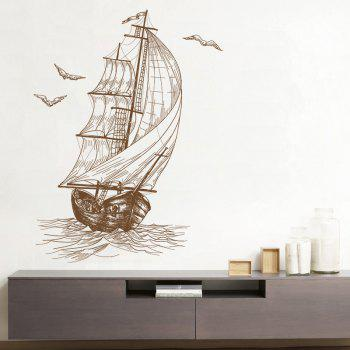 Sketch Sailing Decorative Vinyl Sticker For Wall