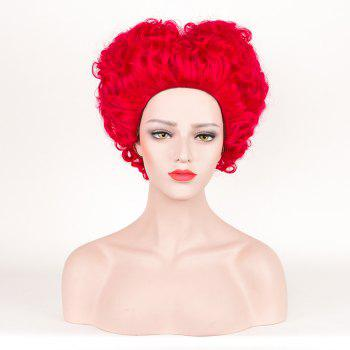 Fluffy Short Curly Alice in Wonderland Red Queen Cosplay Synthetic Wig