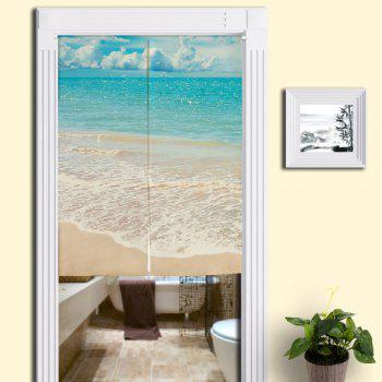 Beach Style Bathroom Practical Door Curtain - BLUE W33.5 INCH * L47 INCH