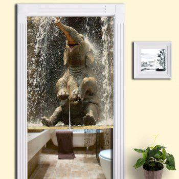 Elephant Printed Bathroom Animal Door Curtain - COLORMIX COLORMIX