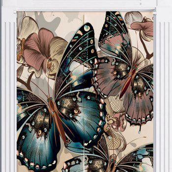 Bathroom Decorative Butterflies Pattern Door Curtain - W33.5 INCH * L47 INCH W33.5 INCH * L47 INCH