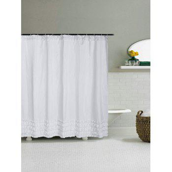 Concise Ruffle Polyester Unique Shower Curtain - WHITE W71 INCH * L71 INCH