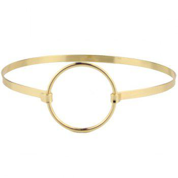 Metallic Circle Choker Necklace - GOLDEN GOLDEN