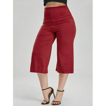 Wide Leg High Waisted Capri Pants