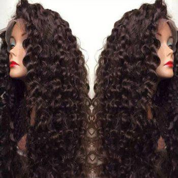 Ultra Long Inclined Bang Shaggy Deep Curly Lace Front Synthetic Wig