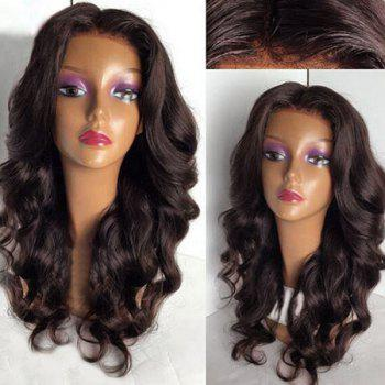 Long Middle Part Fluffy Loose Wave Lace Front Synthetic Wig