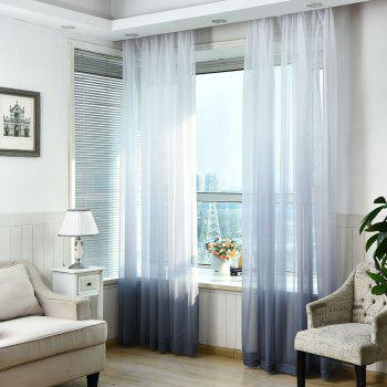 1PC Gradient Color Voile Window Curtain - SMOKY GRAY W39 INCH * L98.5 INCH