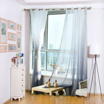 1PC Gradient Color Voile Window Curtain - W39 INCH * L98.5 INCH W39 INCH * L98.5 INCH