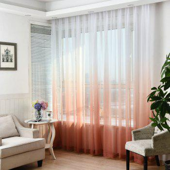 1PC Gradient Color Voile Window Curtain - WINE RED WINE RED