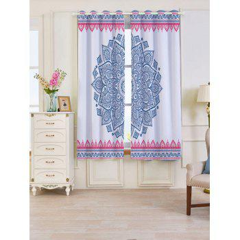 Bohemian Mandala Blackout 2 Panels Set Window Curtains - COLORFUL COLORFUL